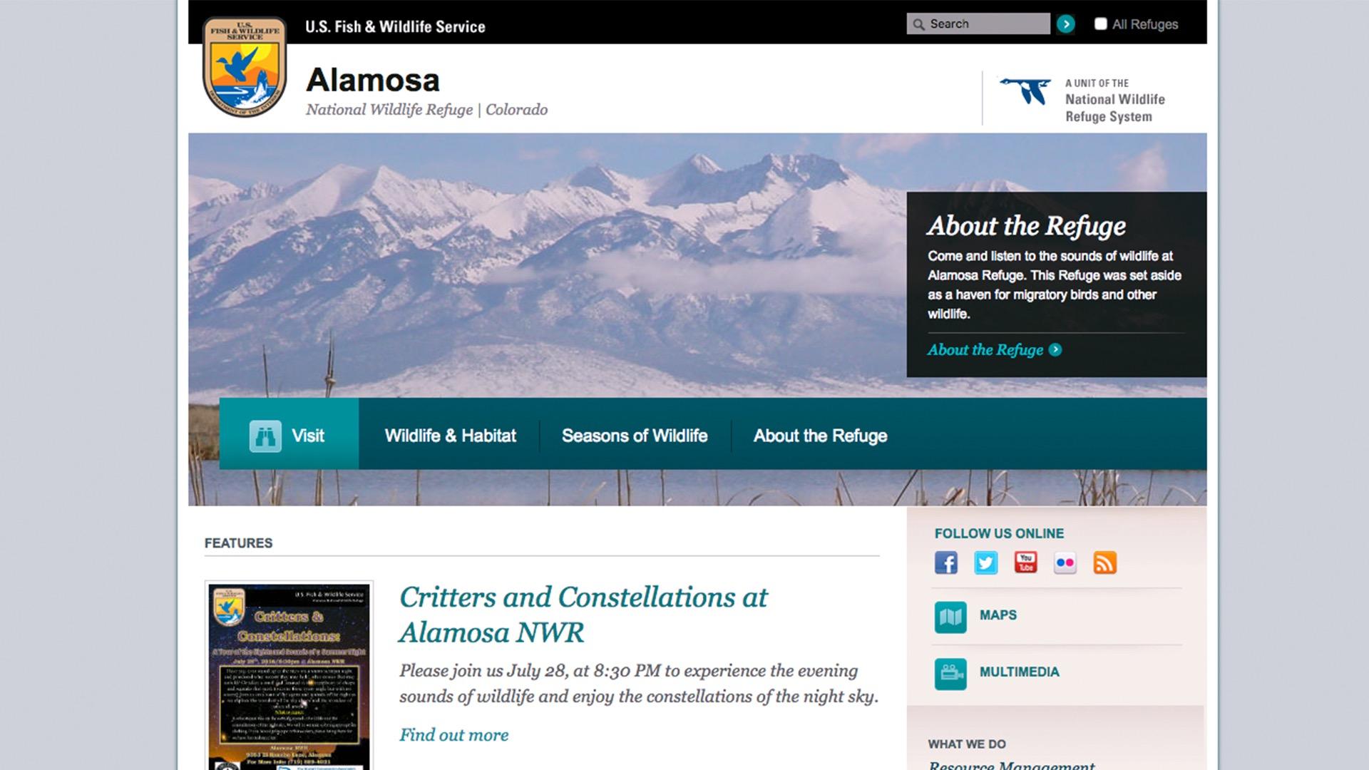 Alamosa Wildlife Refuge website