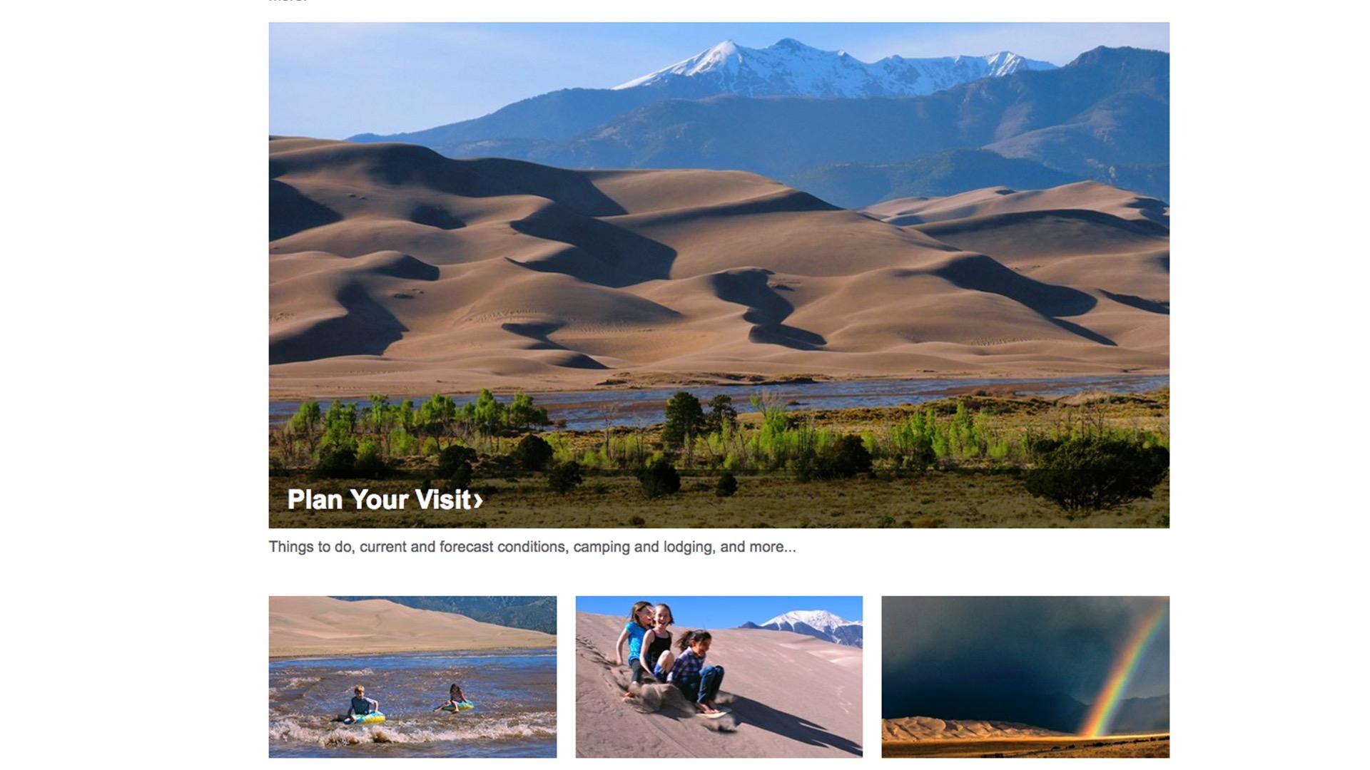 Great Sand Dunes National Park website
