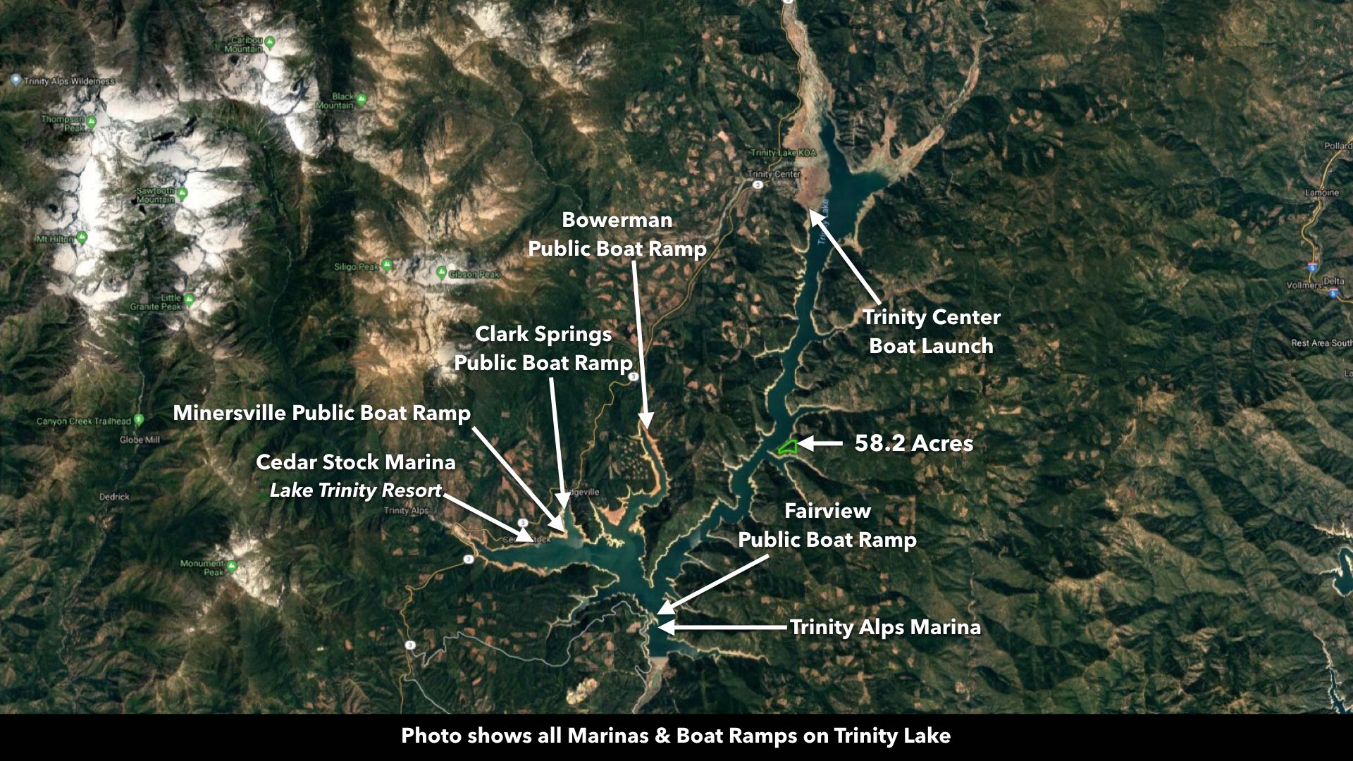 Land for Sale in California - Real Estate on Trinity Lake bordering ...