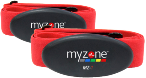 Two MYZONE® MZ-1 exercise belts