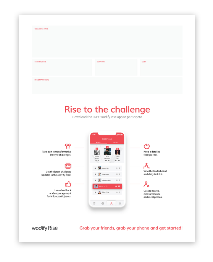Poster: Rise to the challenge