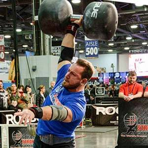 Dan Falcone powerlifting in photo
