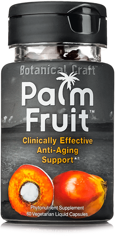 Palm Fruit phytonutrient supplement bottle (Clinically Effective Anti-Aging Support)