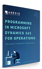 Programming in Microsoft Dynamics 365 for Operations