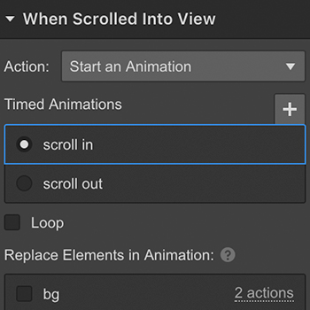 Creating a background scroll interaction with Interactions 2.0