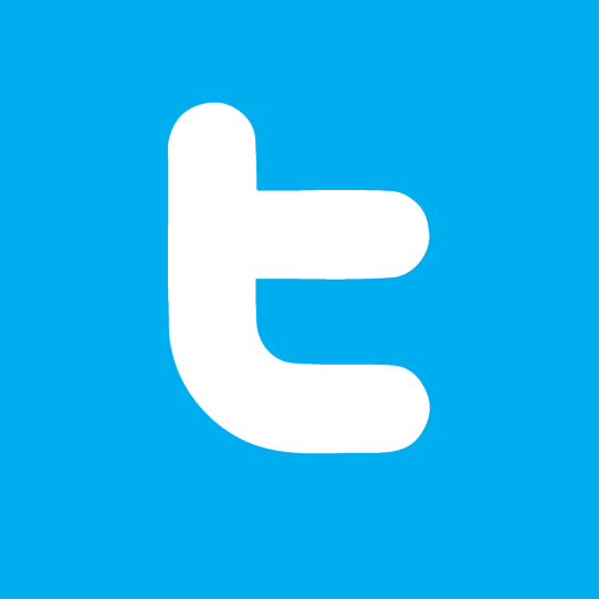 Twitter icon links to twitter page