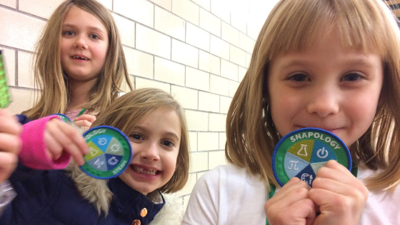 Girl Scouts with Badges