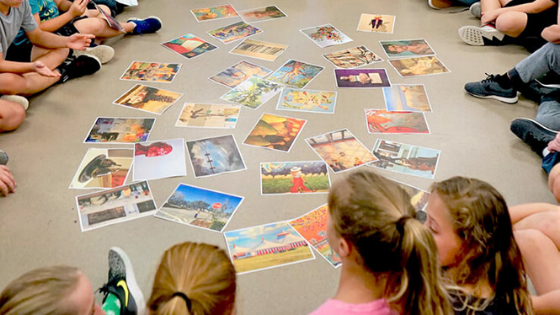 Kids at Art Camp