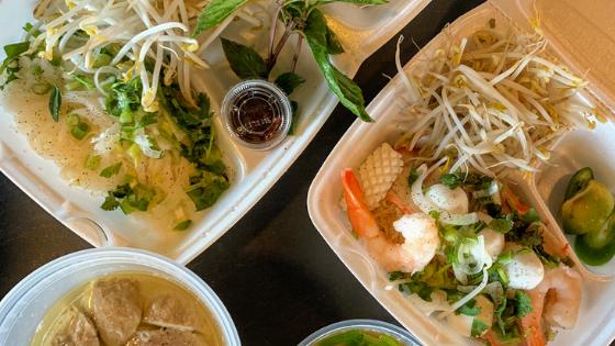 Food from Saigon Noodle Bar