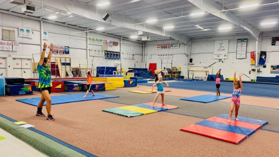 Children at Gymnastic Camp