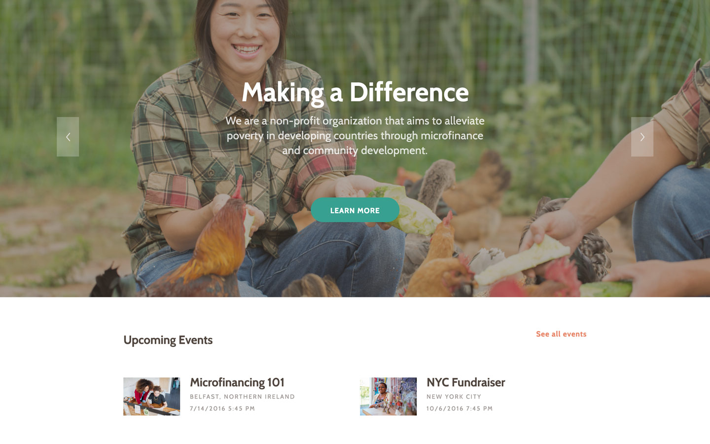 charity nonprofit html5 responsive website template