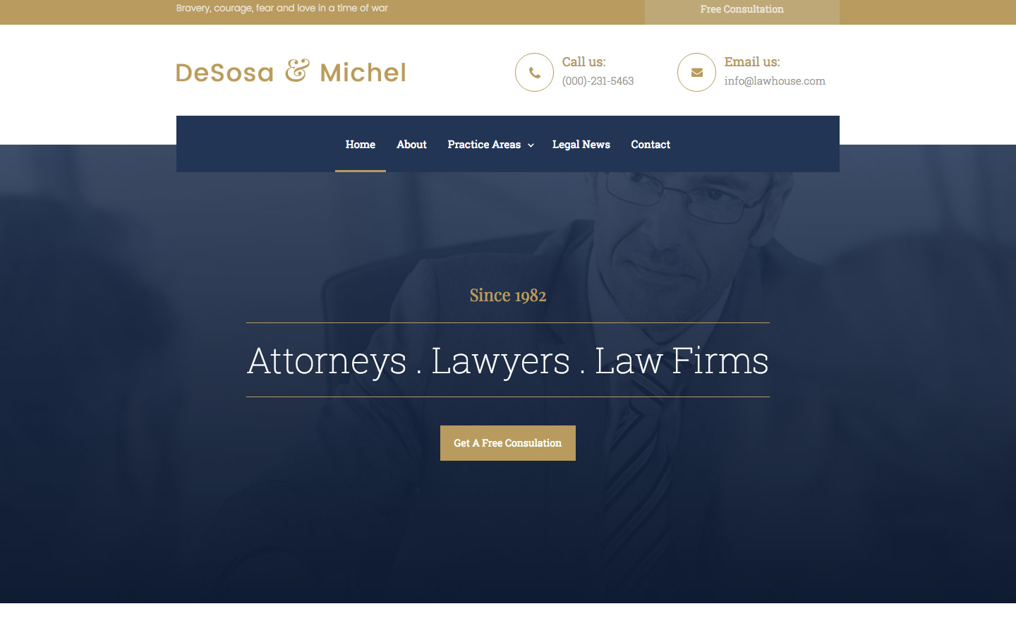 libero law firm html5 responsive website template