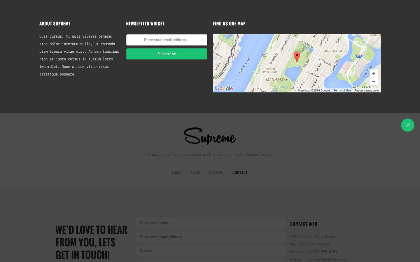Supreme - Agency HTML5 Responsive Website Template