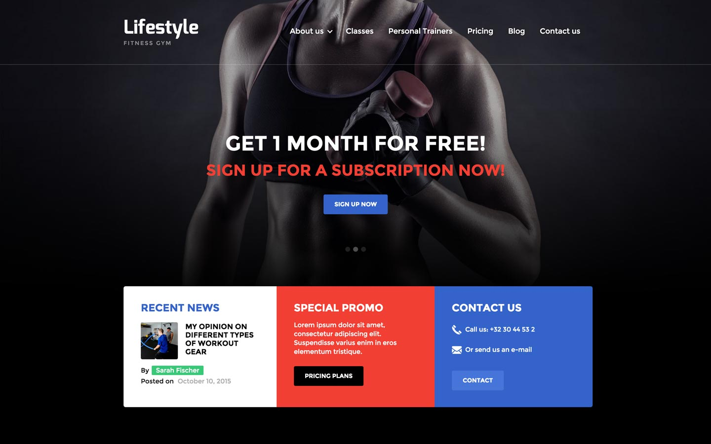 Lifestyle   Gym HTML5 Responsive Website Template  Fitness Templates Free
