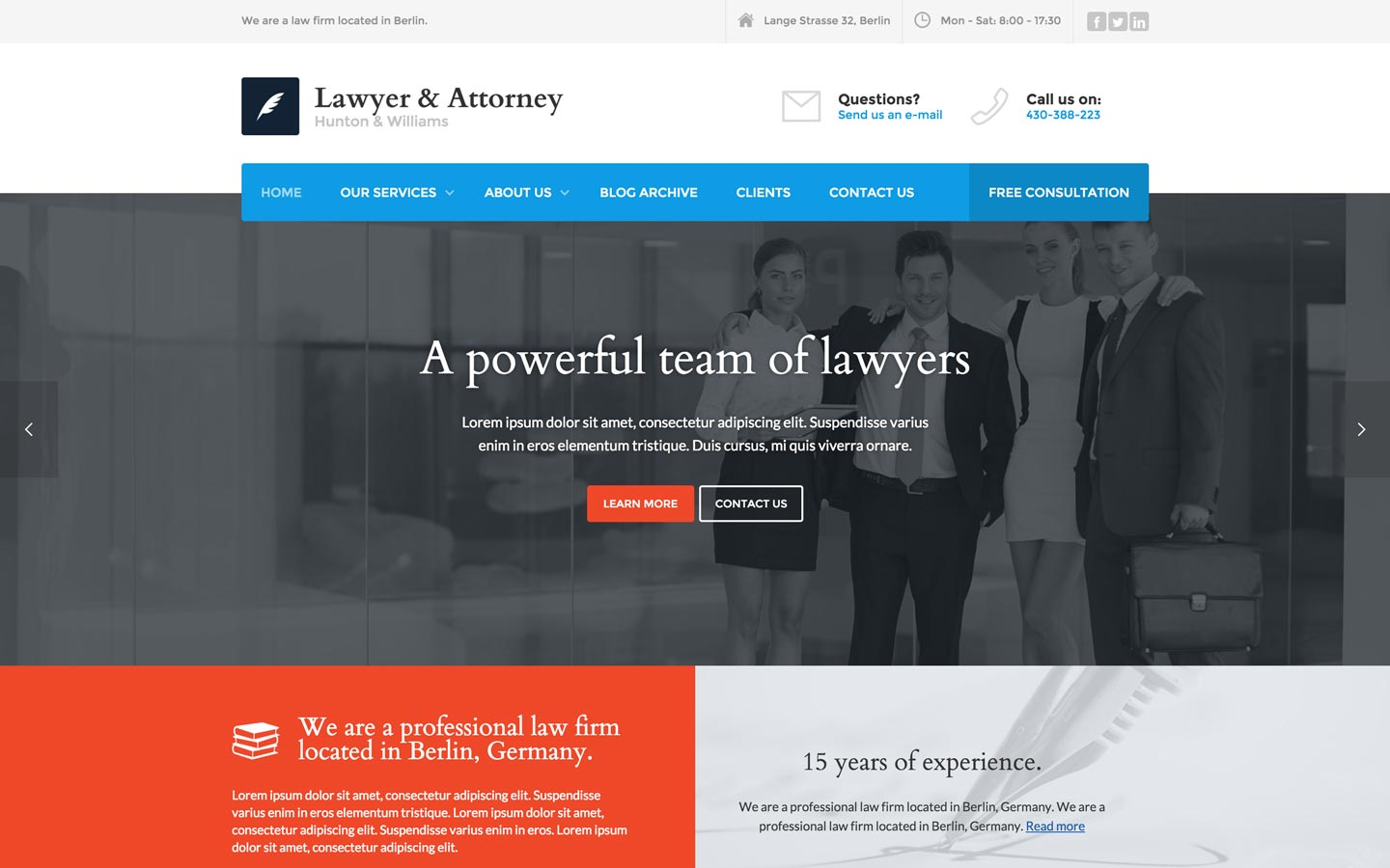 Lawyer and Attorney - Law Firm HTML5 Responsive Website Template