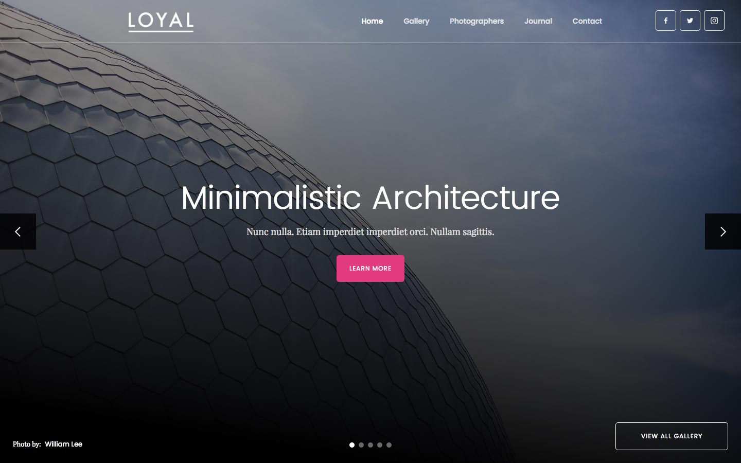 loyal photography html5 responsive website template