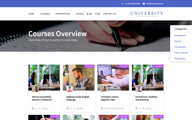University - Education HTML5 Responsive Website Template