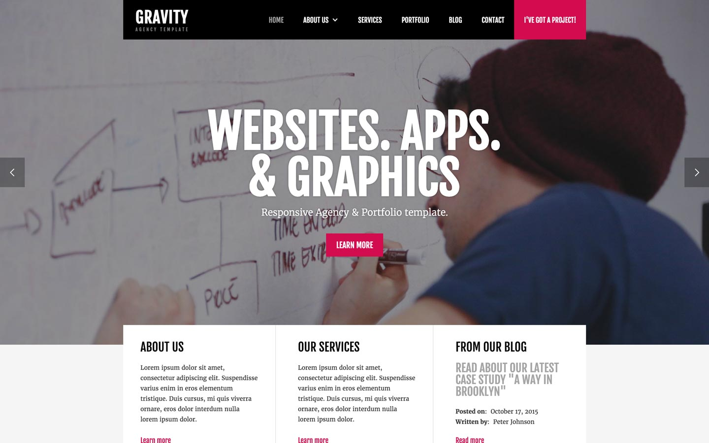 Gravity agency html5 responsive website template maxwellsz