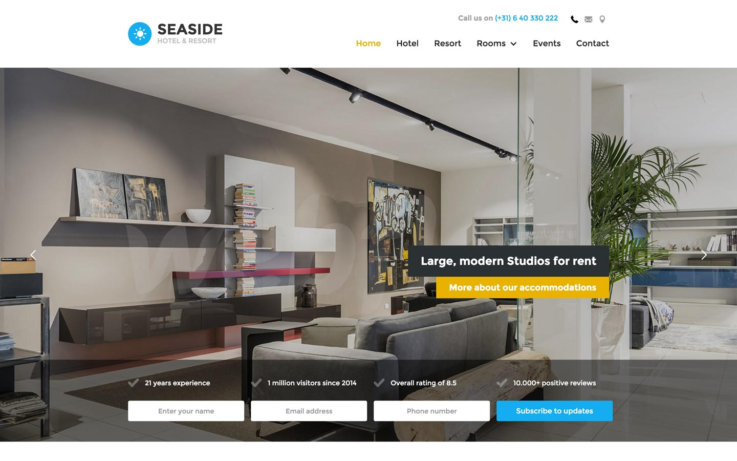 Seaside - Hotel HTML5 Responsive Website Template