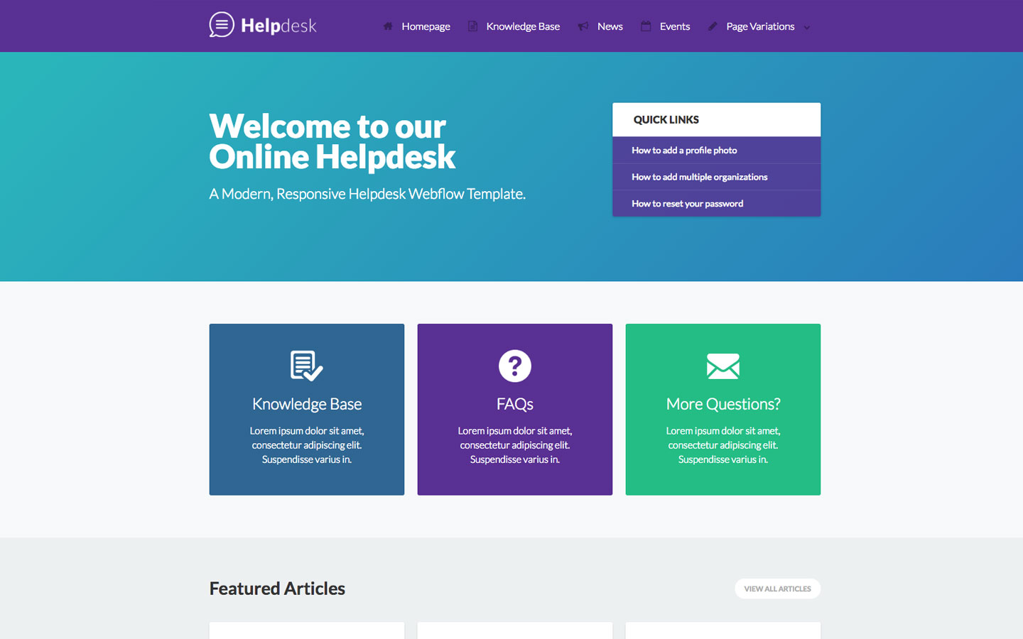 html product page template free - helpdesk documentation html5 responsive website template