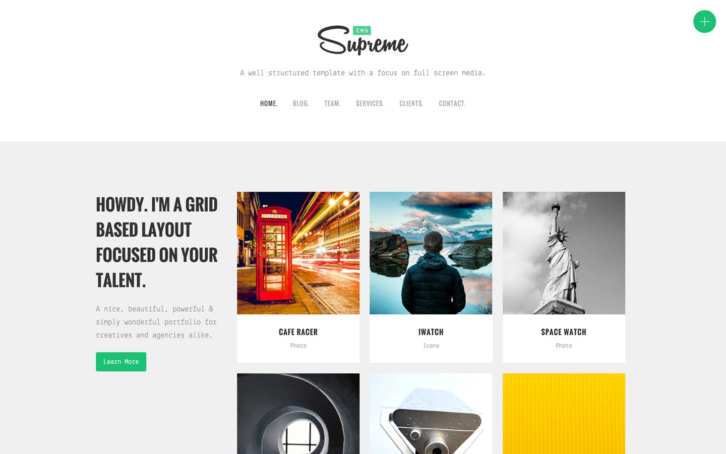 Supreme CMS - Agency HTML5 Responsive Website Template
