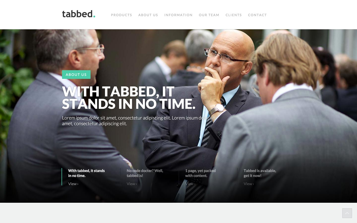 Tabbed - Corporate HTML5 Responsive Website Template