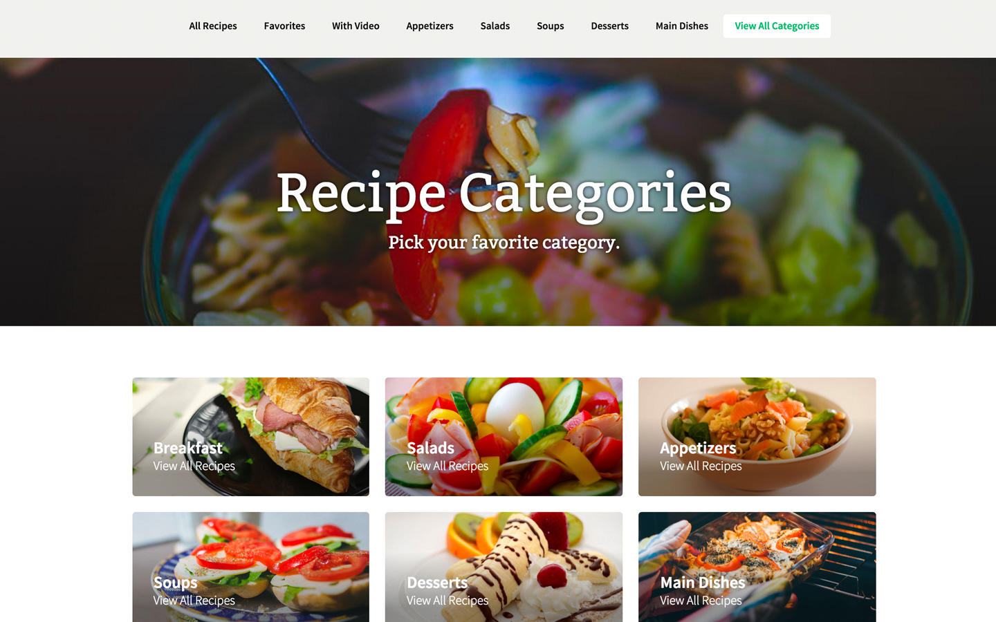 All recipes recipe html5 responsive website template all recipes 2 forumfinder Choice Image