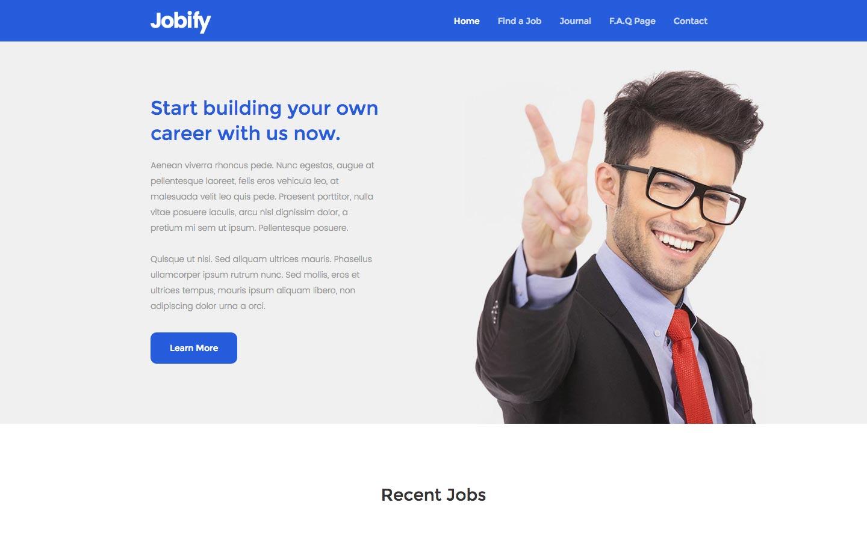 jobify job portal html5 responsive website template