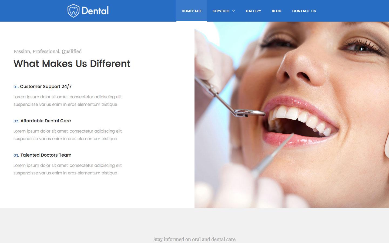 dental dentist html5 responsive website template