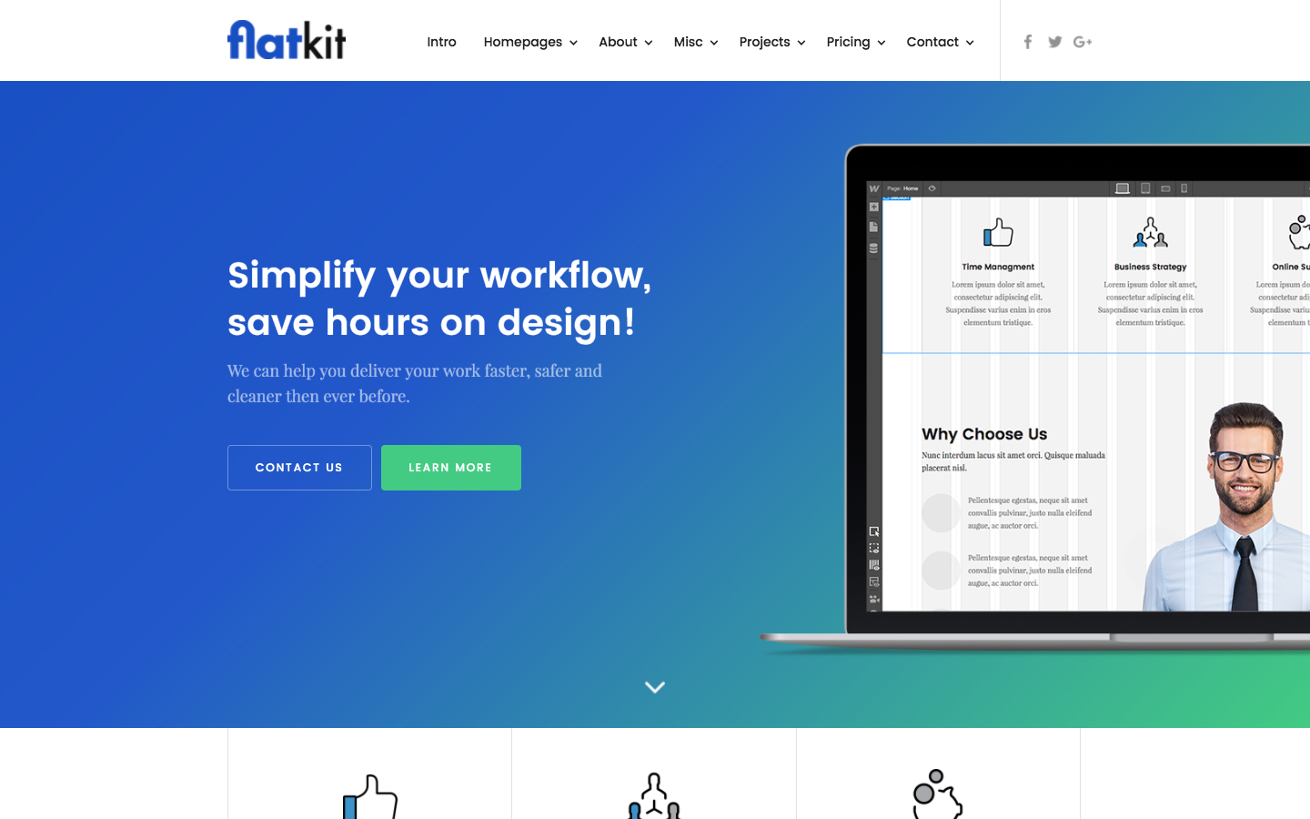 Business website templates available at webflow flatkit cms fbccfo Gallery