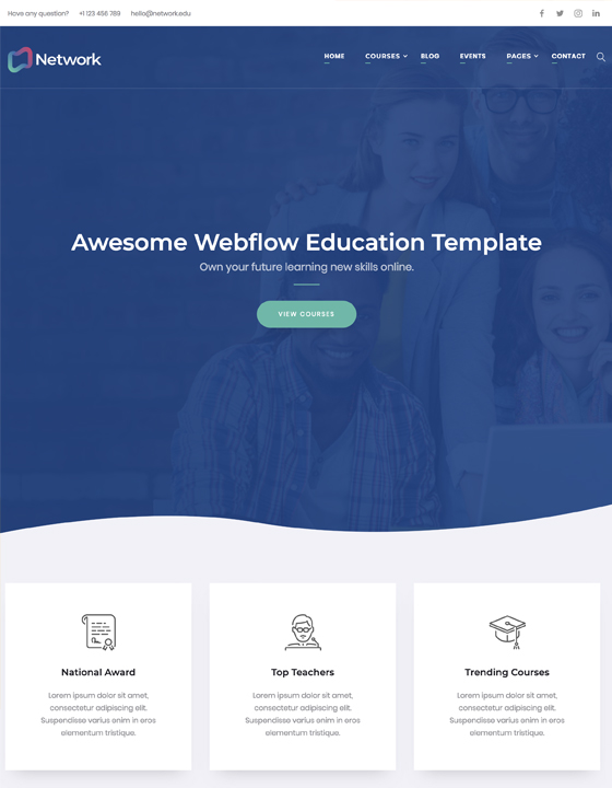 html5 responsive website templates webflow