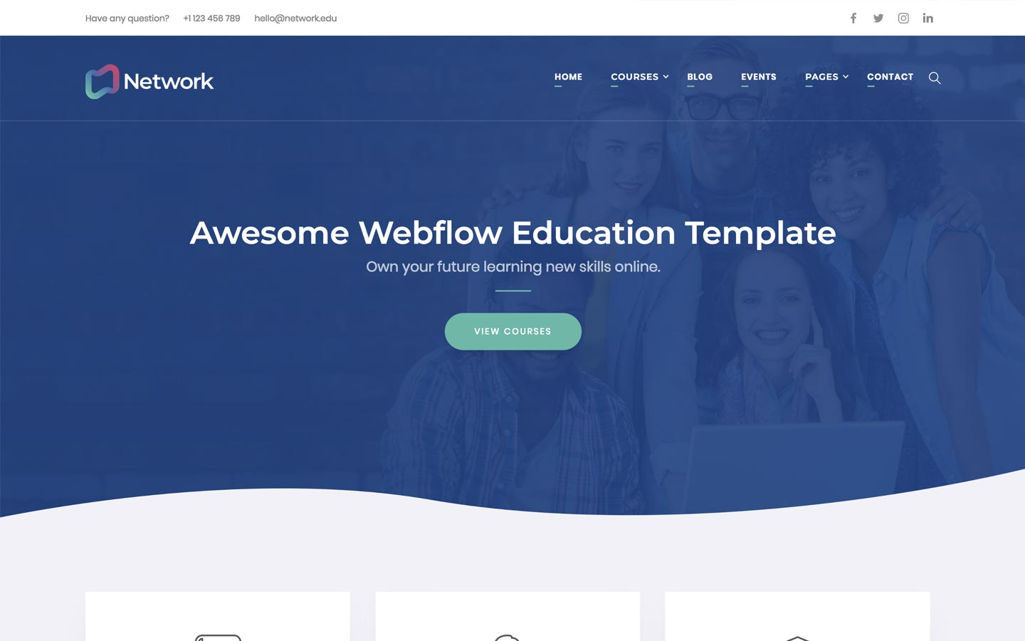 cms html5 responsive website templates webflow
