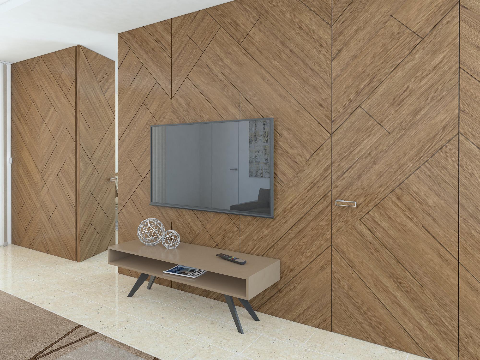 wood panels. Black Bedroom Furniture Sets. Home Design Ideas