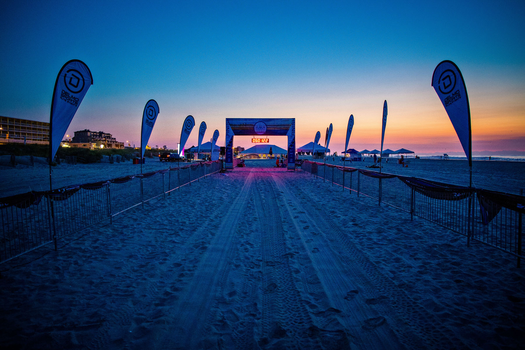 Tri The Wildwoods Triathlon - The finish line race morning