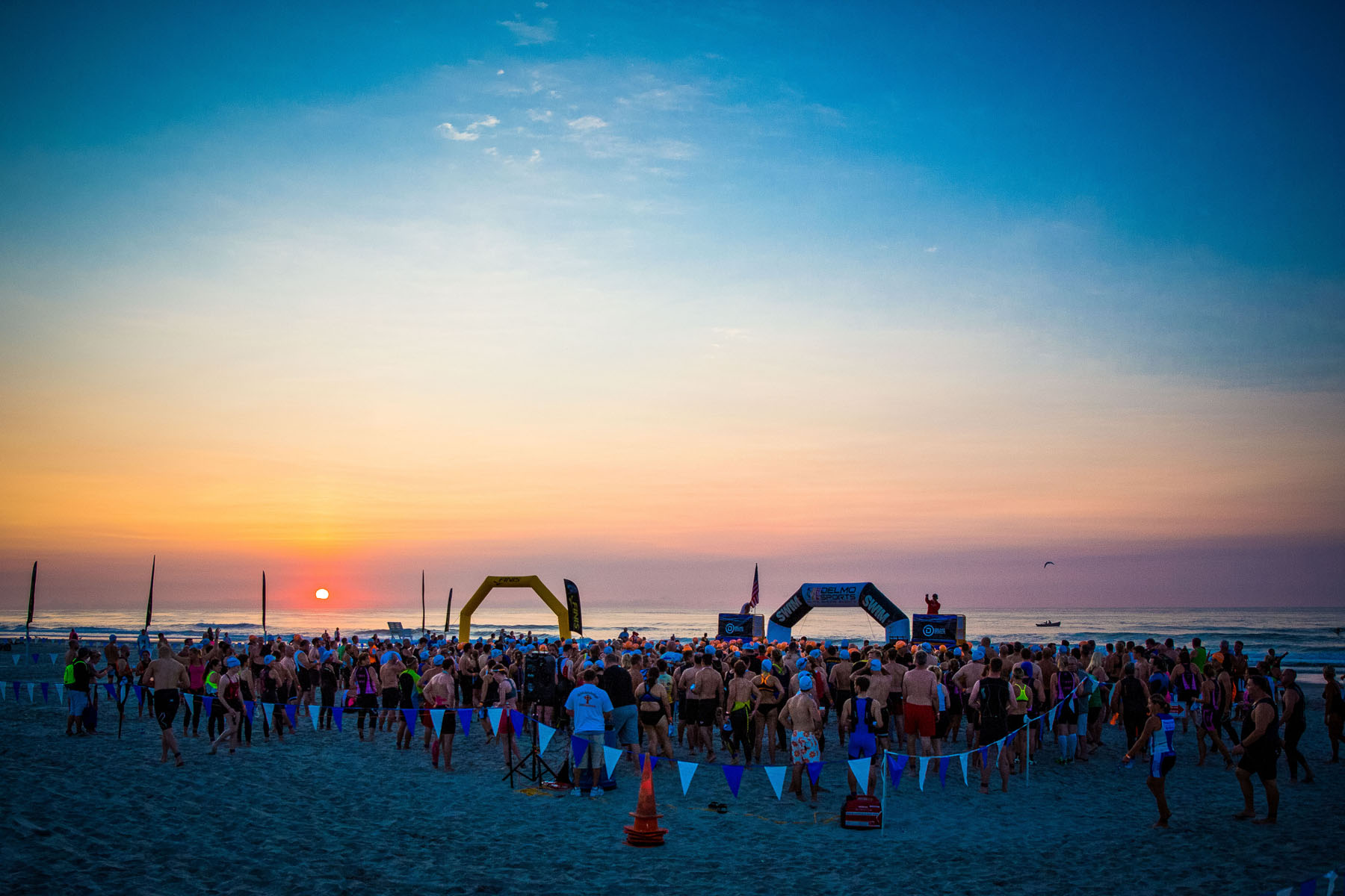 Tri The Wildwoods NJ Triathlon - swim start race morning