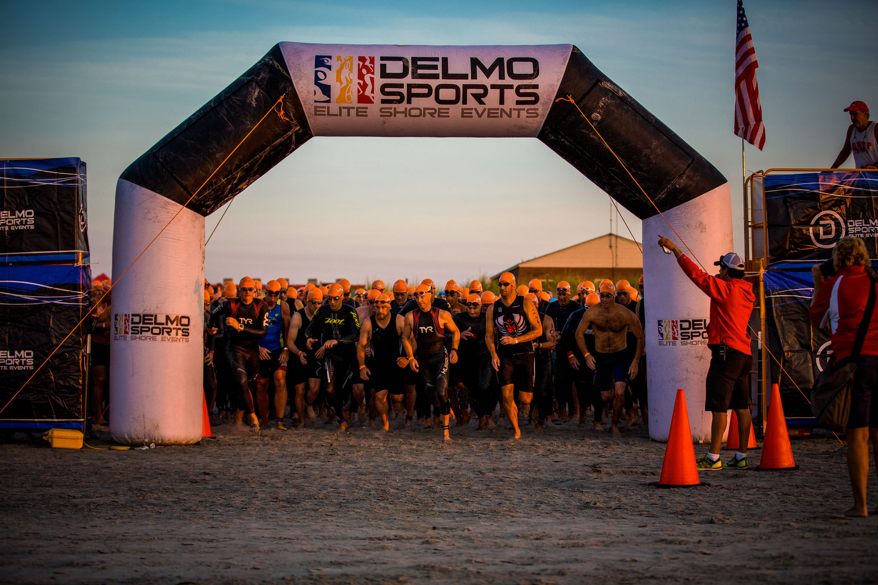 Tri The Wildwoods New Jersey Triathlon - swim start horn!