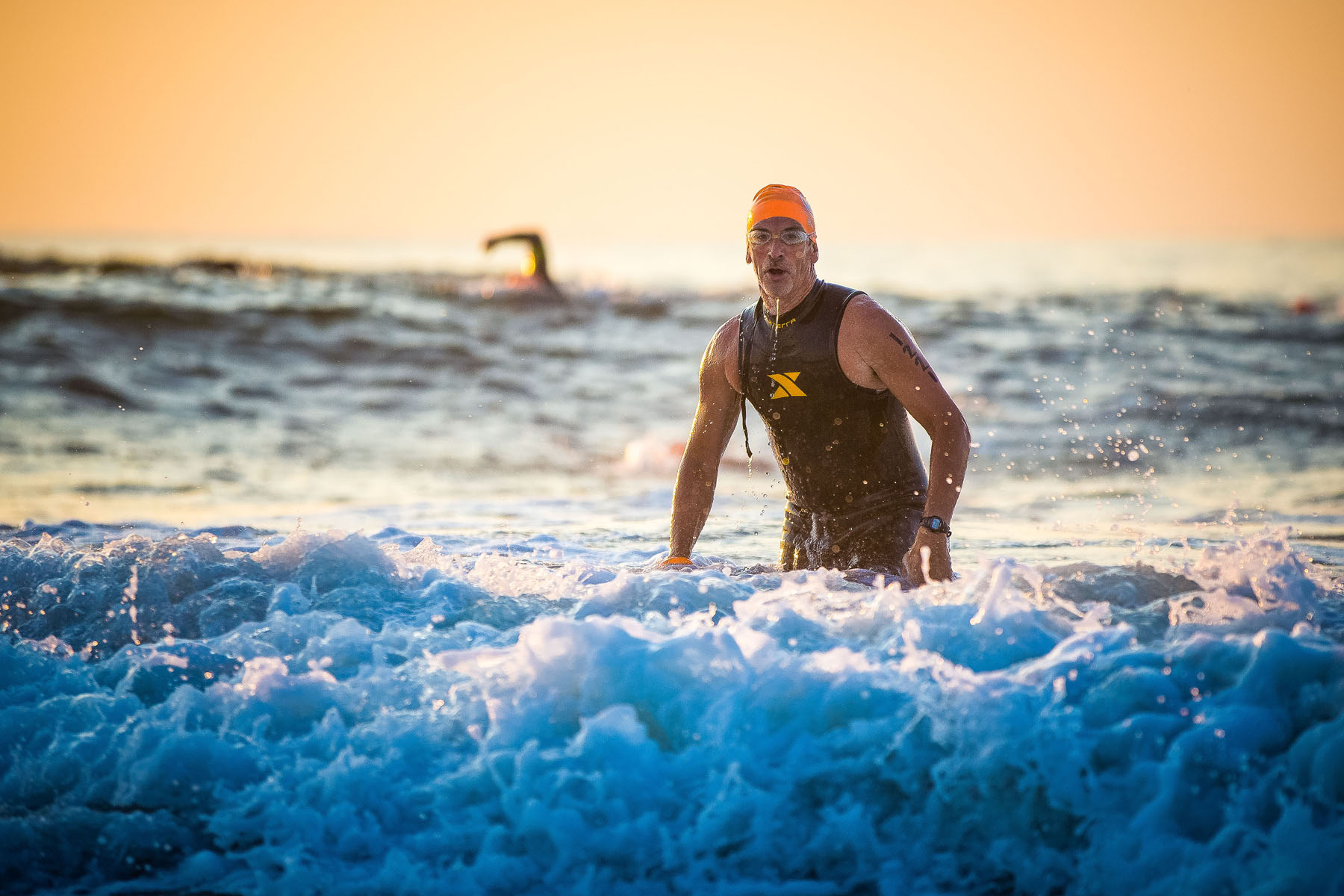 Tri The Wildwoods New Jersey Triathlon - ocean waves