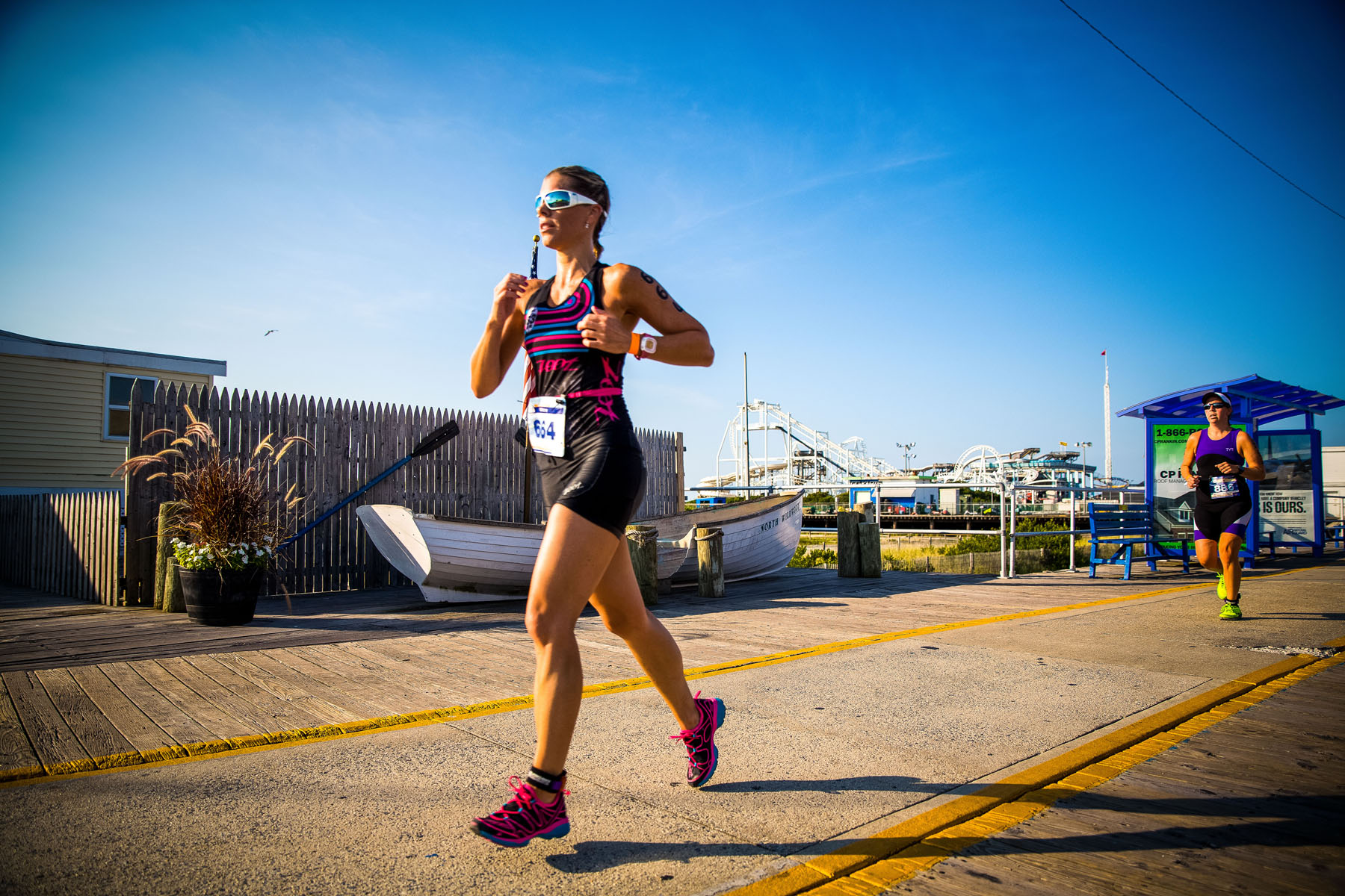 Tri The Wildwoods New Jersey Triathlon - Young ladies triathlete