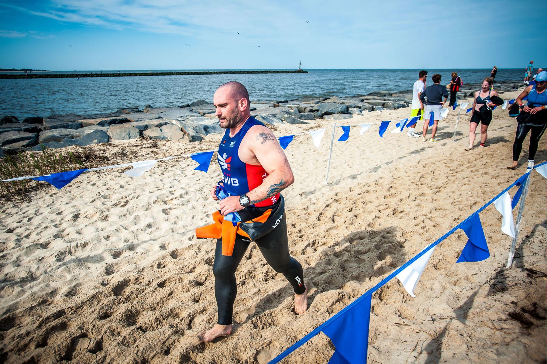 Beach Run to Transition T1  - Escape The Cape Triathlon