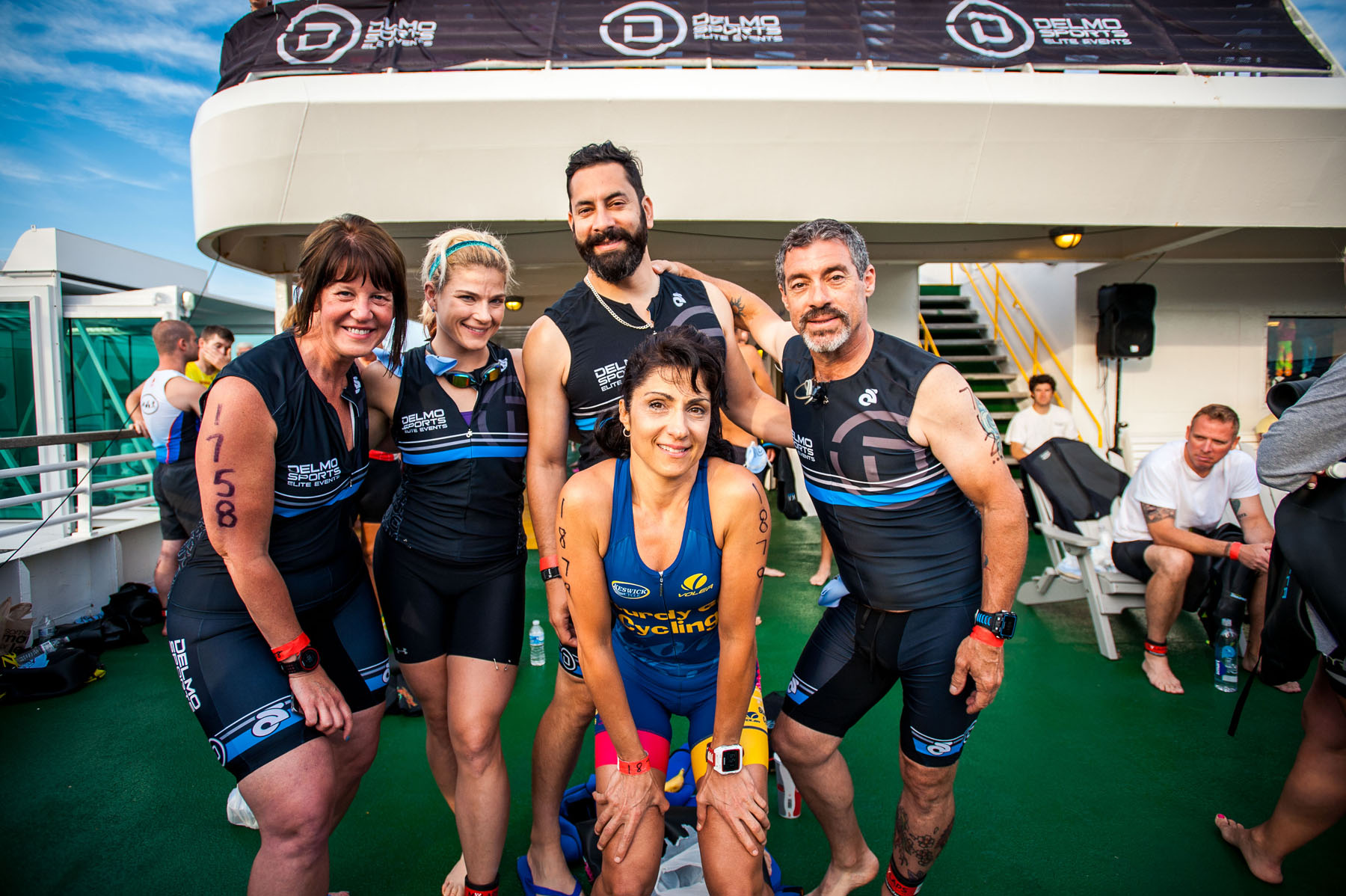 With good friends and family - Escape The Cape Triathlon