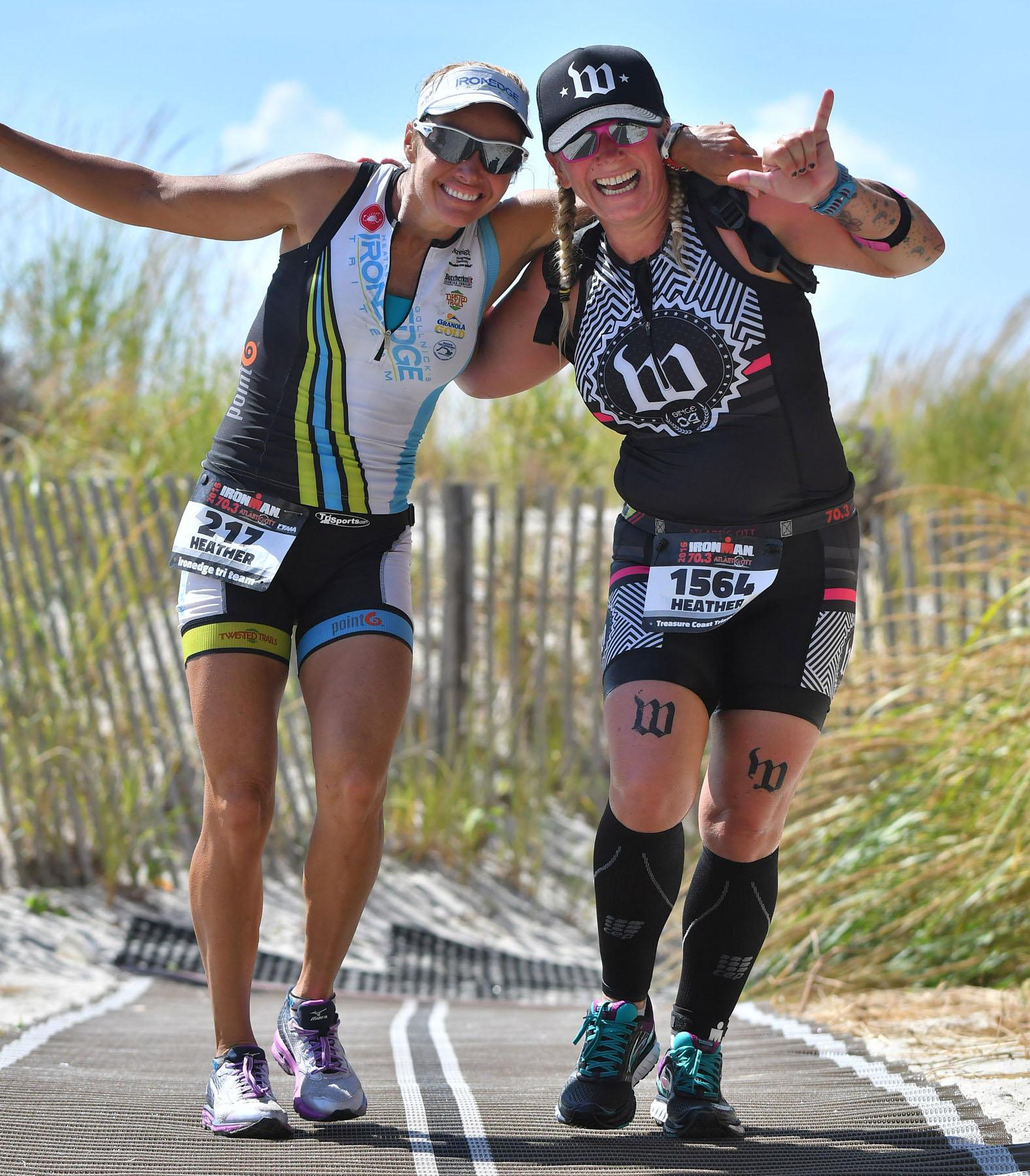 heather gollnick & W tatoo - Ironman 70.3 Atlantic City