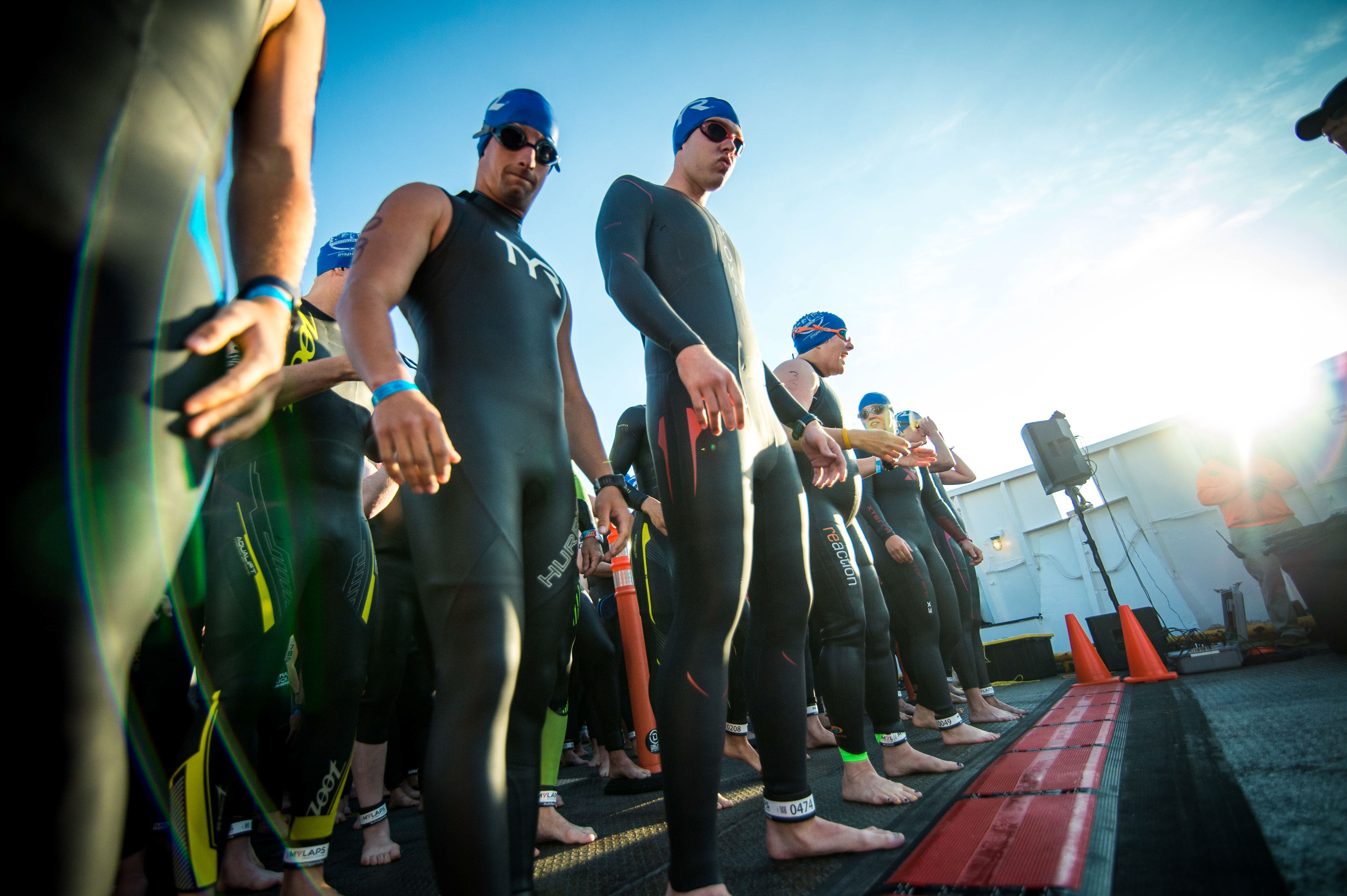 start line - Escape The Cape Triathlon