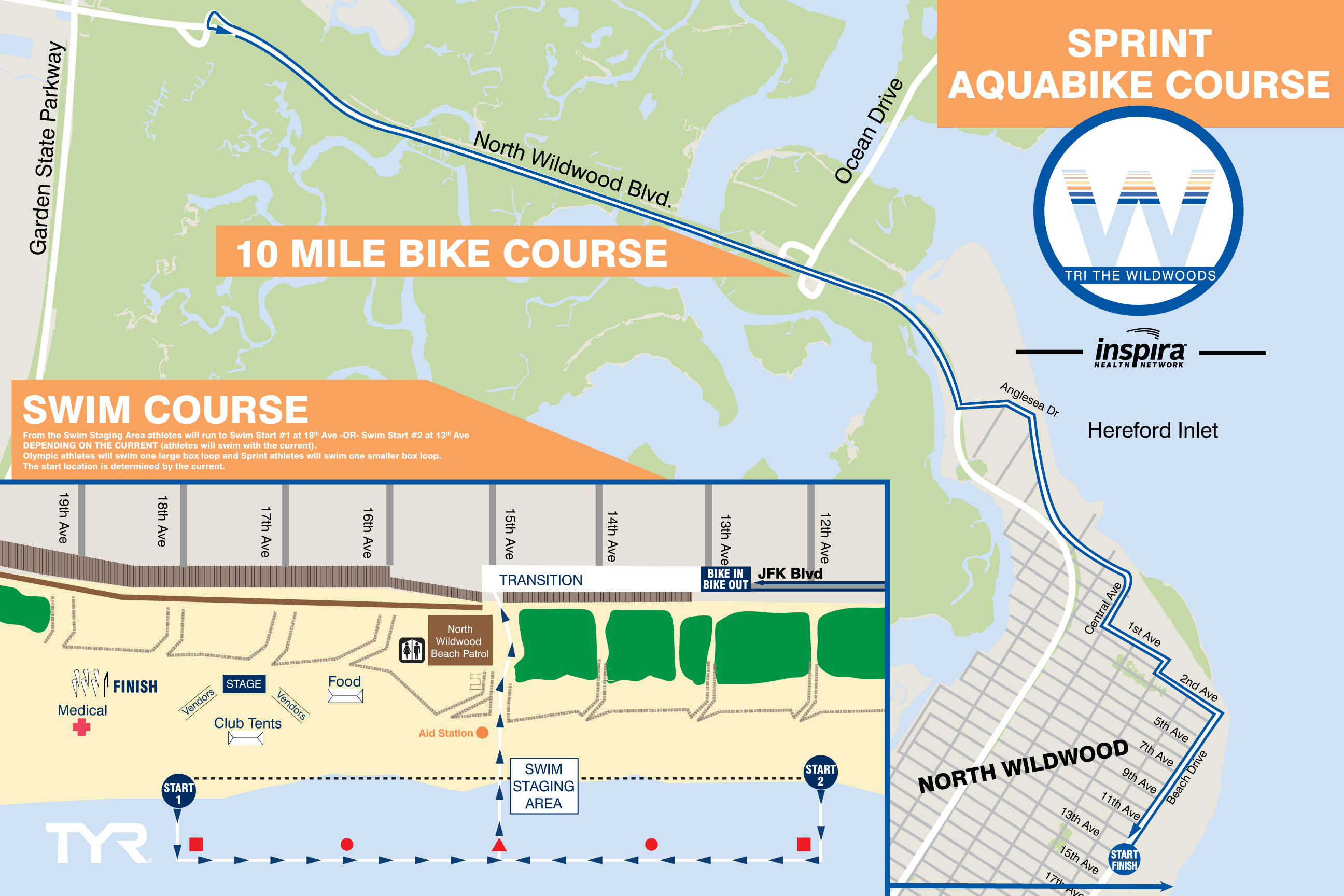Aquabike Sprint Course