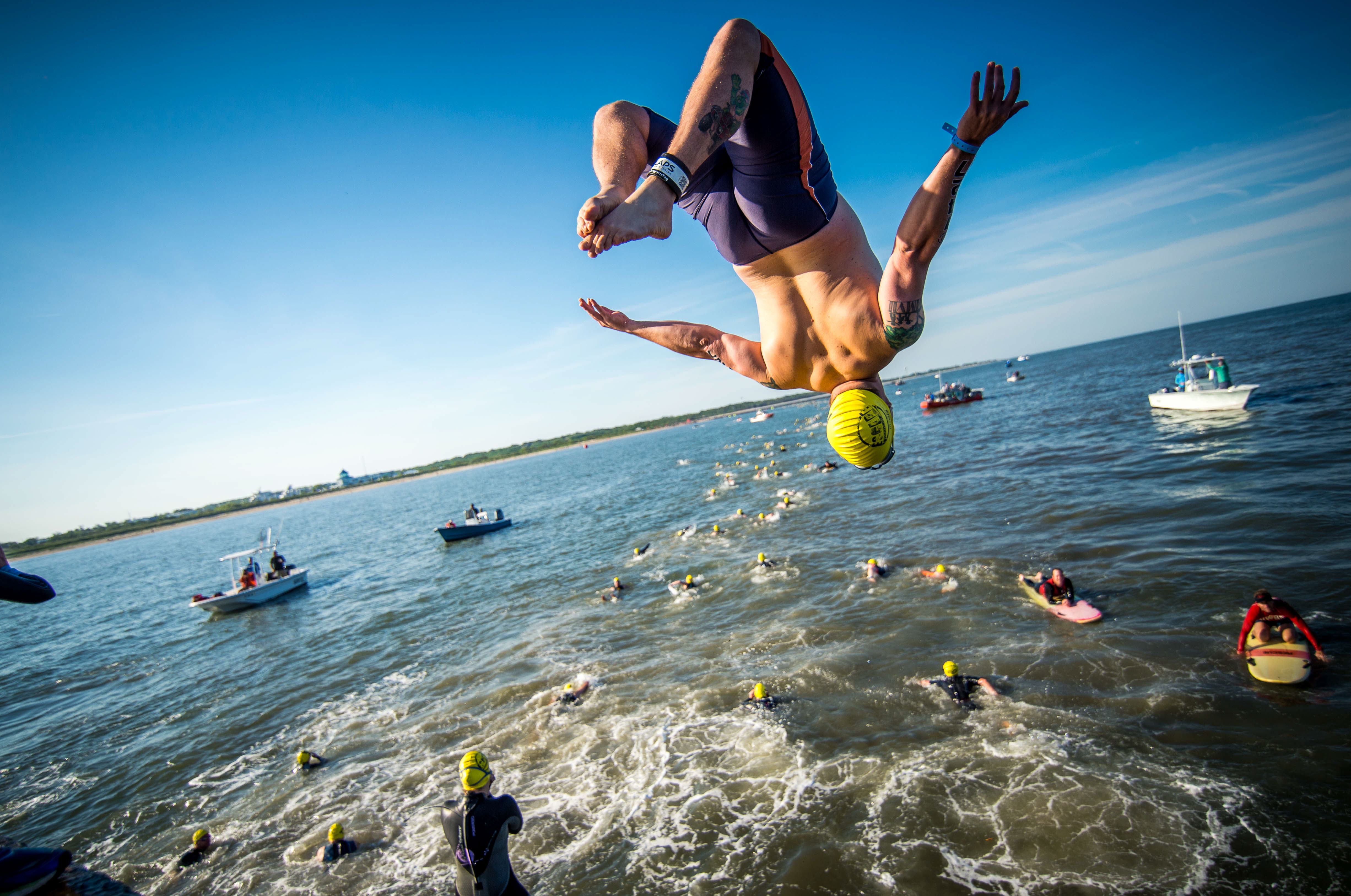 jump backflip - Escape From Lewes Open Water Classic Copy