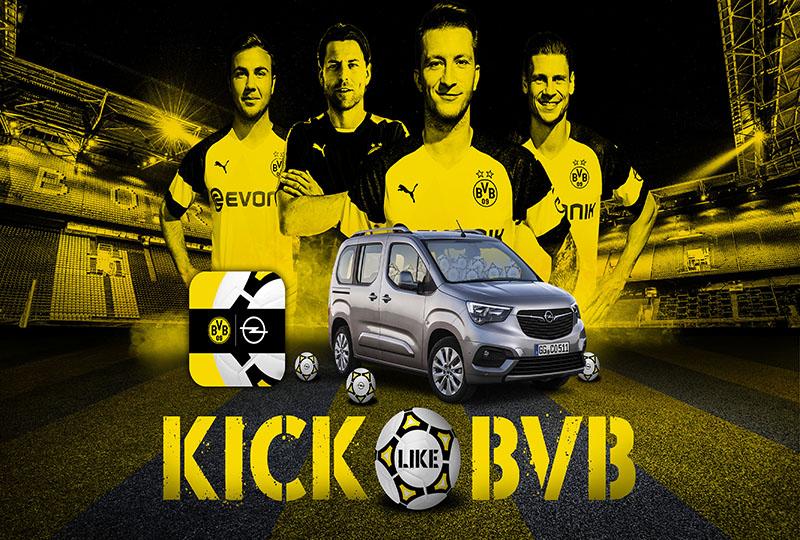 KICK LIKE BVB: Opel und MRM//McCann launchen Augmented Reality-Fußball-Erlebnis mit dem BVB