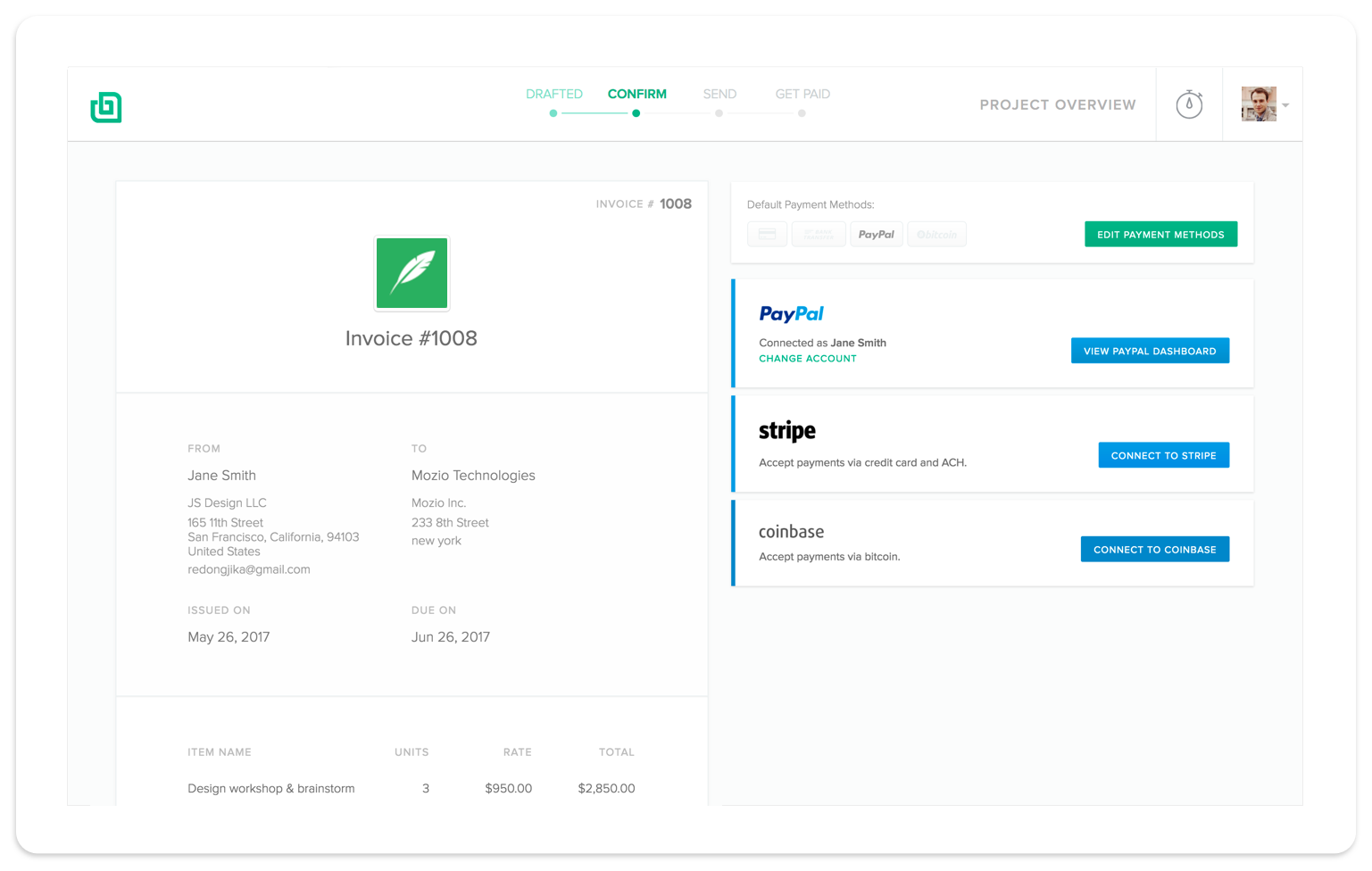 Invoicing Software For Freelancers Bonsai