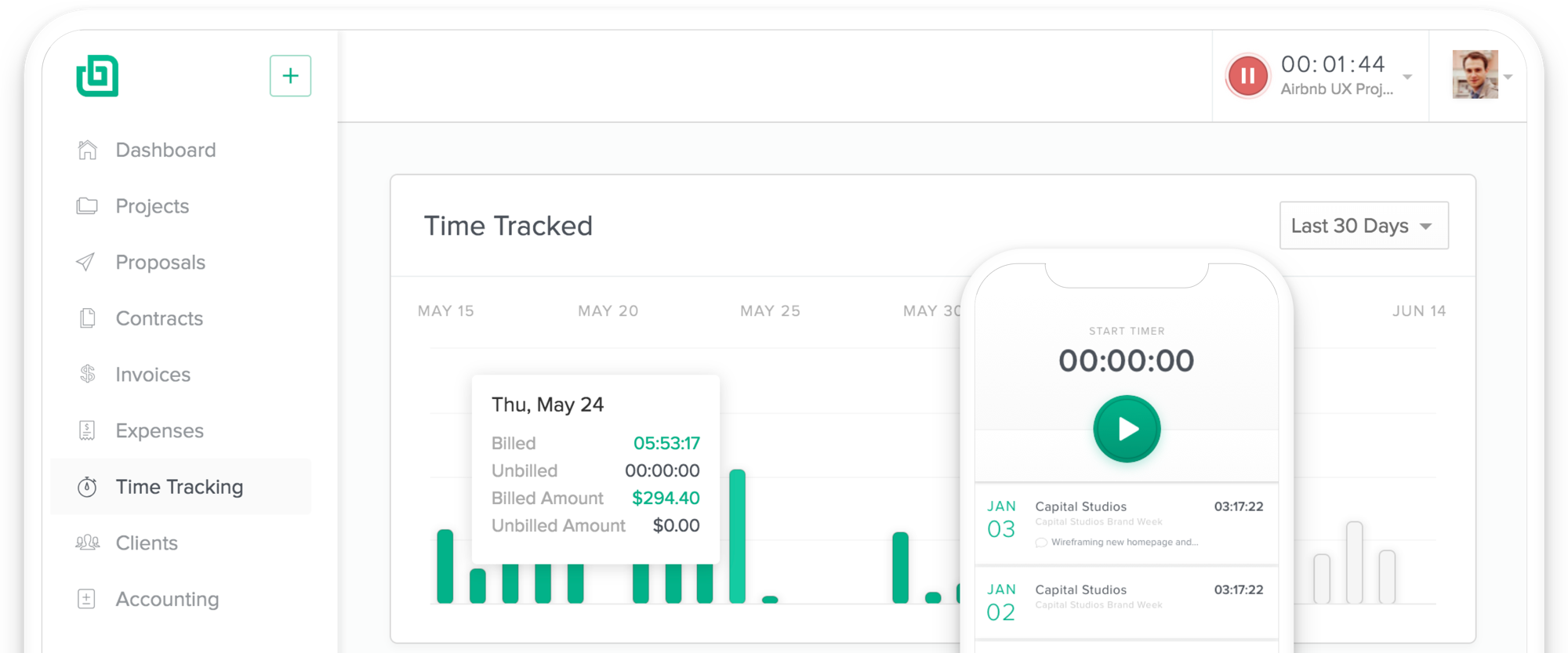 Freelance Time Tracking - Bonsai