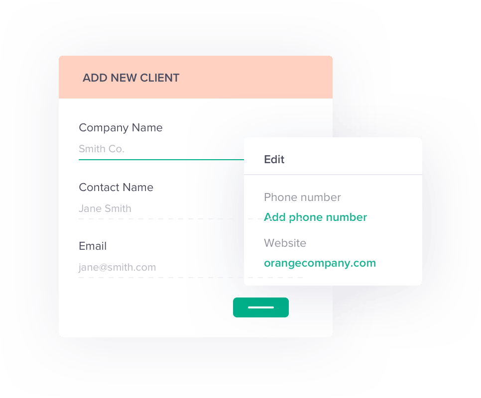 Add new client graphic
