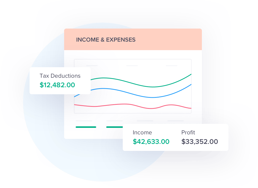 Income & expenses graphic