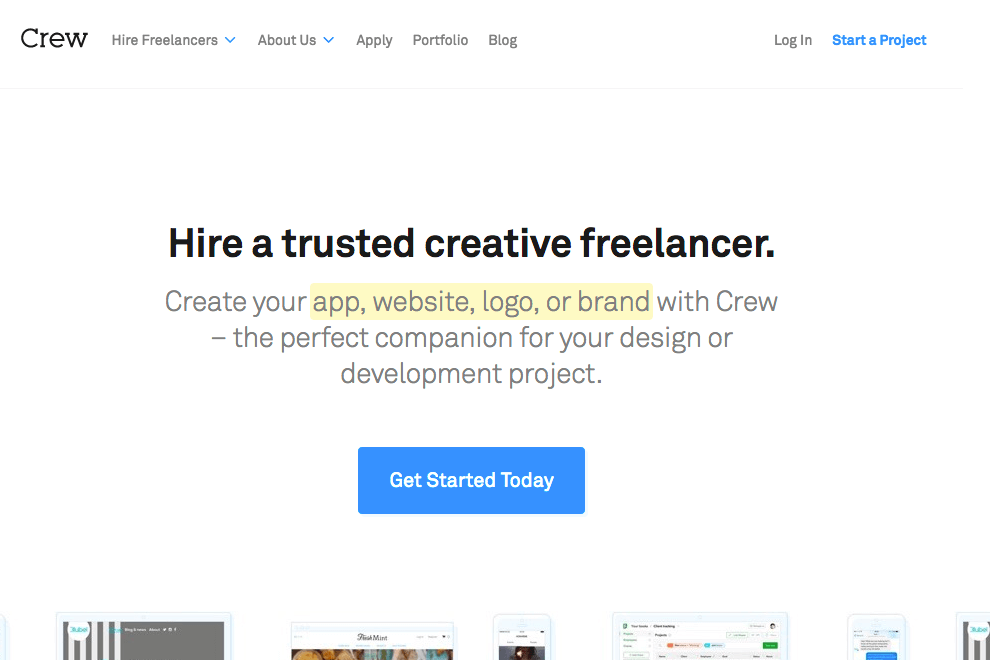 Best freelance website crew - bonsai